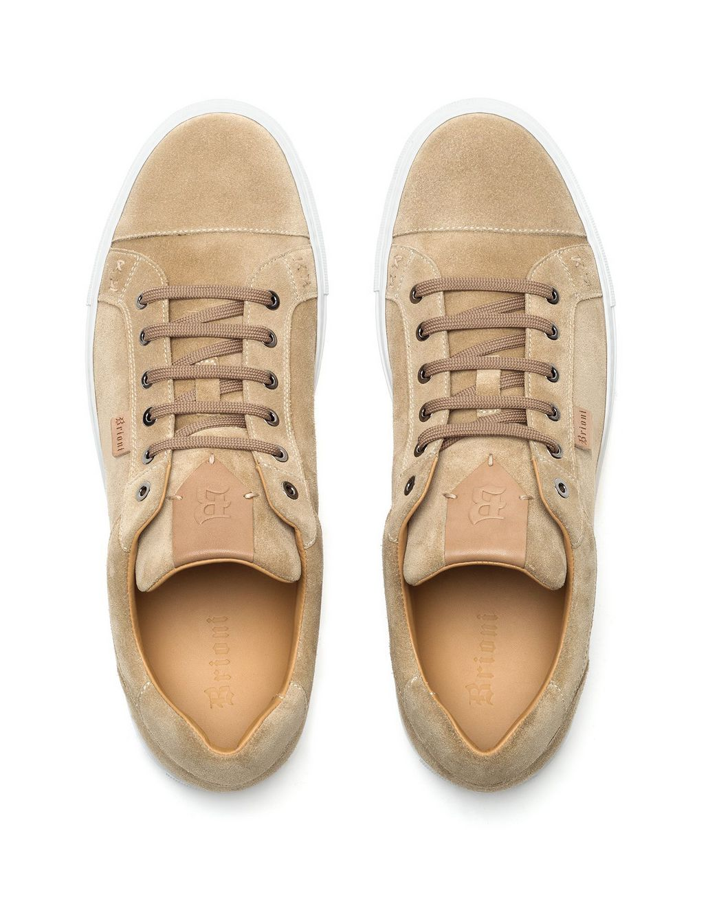 BRIONI Sneakers Beige in Pelle Scamosciata Sneaker [*** pickupInStoreShippingNotGuaranteed_info ***] r