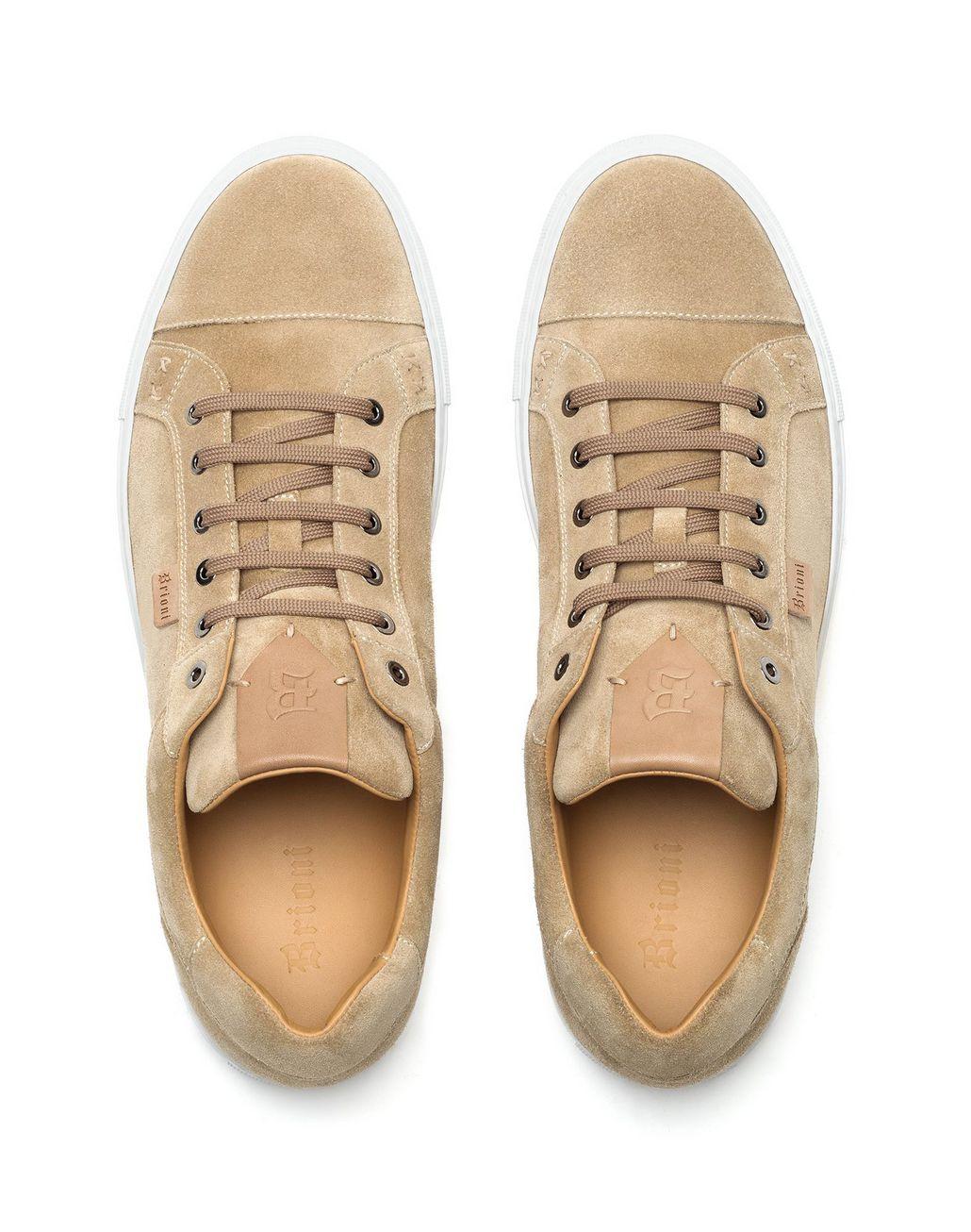BRIONI Beige Suede Sneakers Sneakers Man r