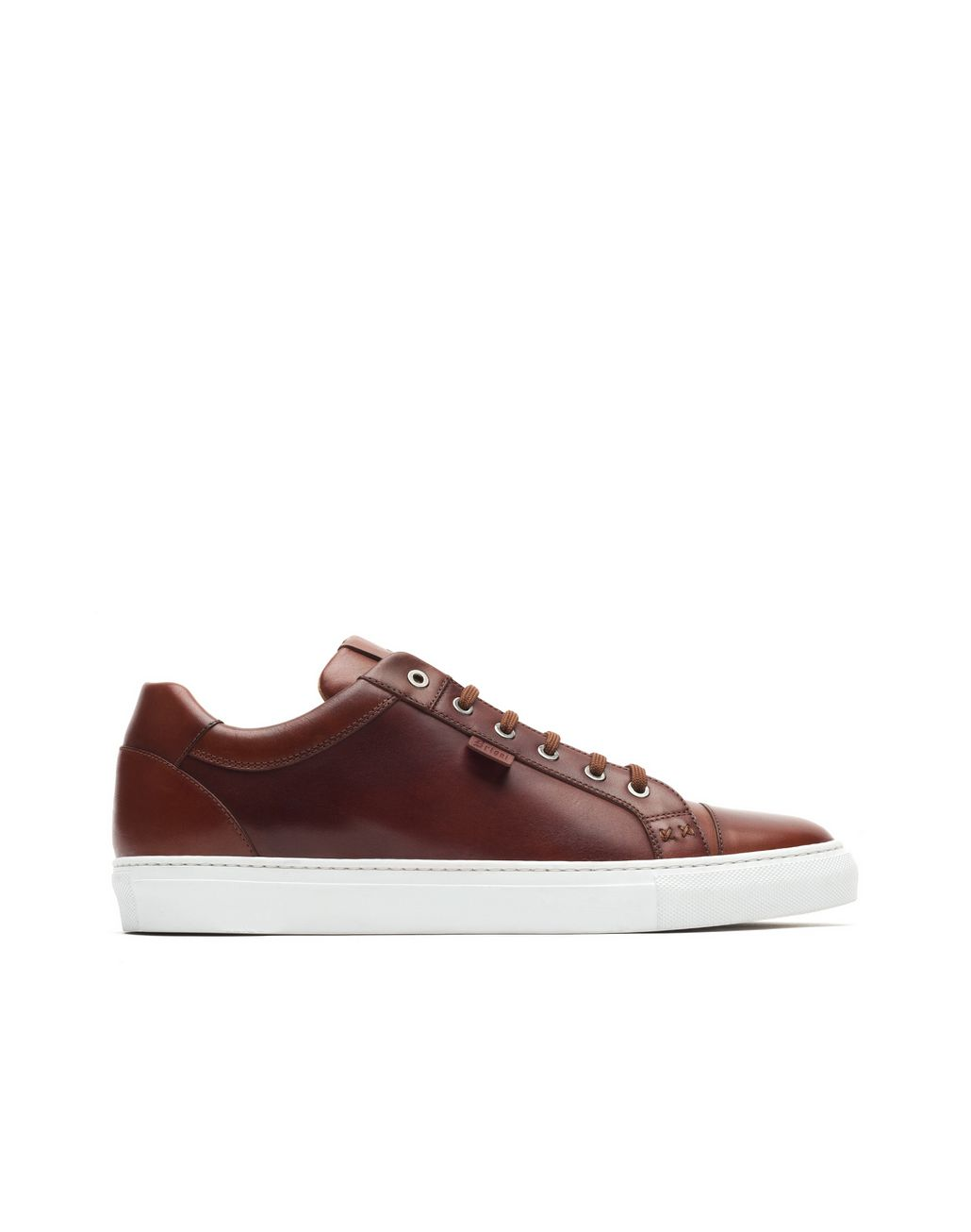 BRIONI Sneakers in Pelle di Vitello Color Tabacco Sneaker U f