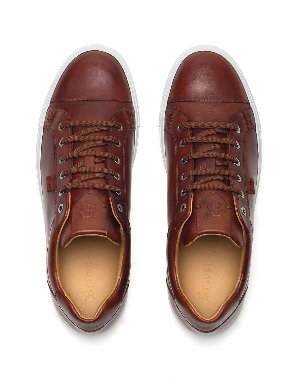 BRIONI Sneakers in Pelle di Vitello Color Tabacco Sneaker U r