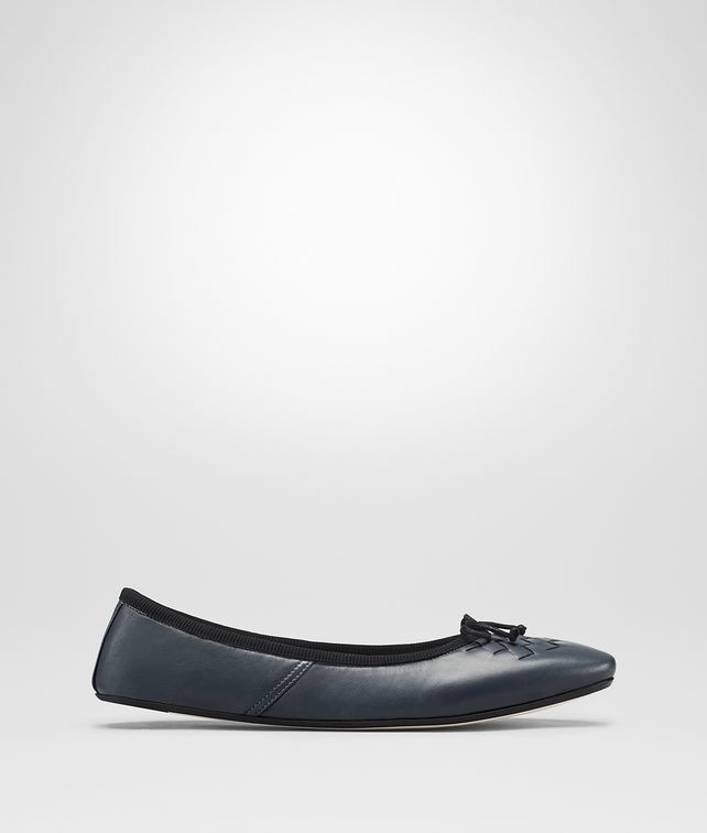 BOTTEGA VENETA DENIM NAPPA LEATHER PICNIC BALLERINA Flat Woman fp