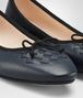 BOTTEGA VENETA DENIM NAPPA LEATHER PICNIC BALLERINA Flat Woman ap