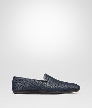 FIANDRA SLIPPER IN VITELLO INTRECCIATO DENIM