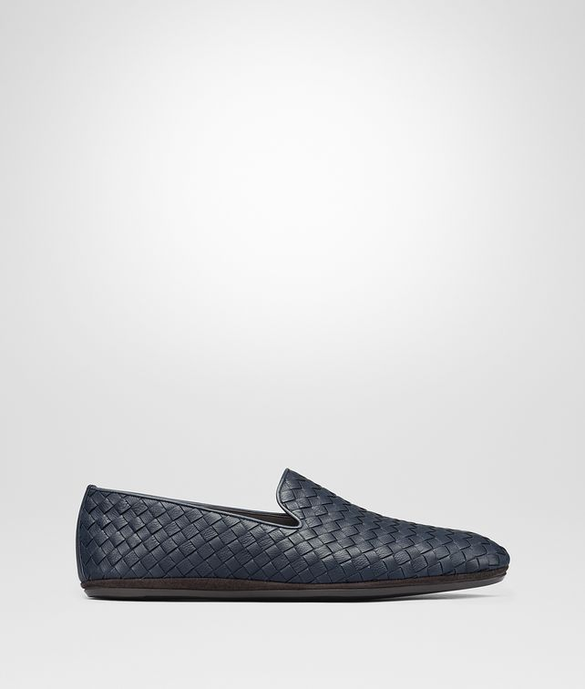 BOTTEGA VENETA FIANDRA SLIPPER IN DENIM INTRECCIATO CALF Mocassin or Slipper [*** pickupInStoreShippingNotGuaranteed_info ***] fp