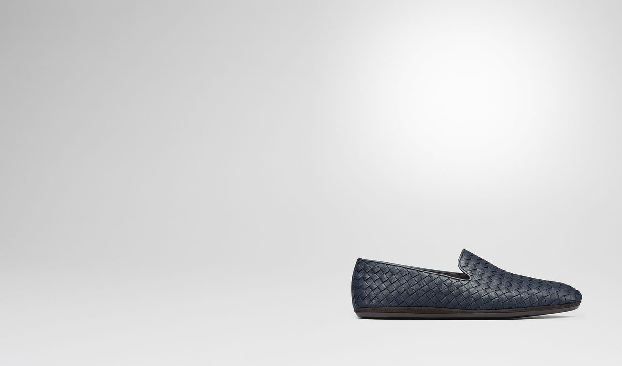 fiandra slipper in denim intrecciato calf landing