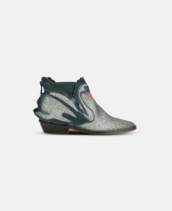 STELLA McCARTNEY KIDS Bottines Lily bleues avec cygnes Chaussures & Accessoires D c