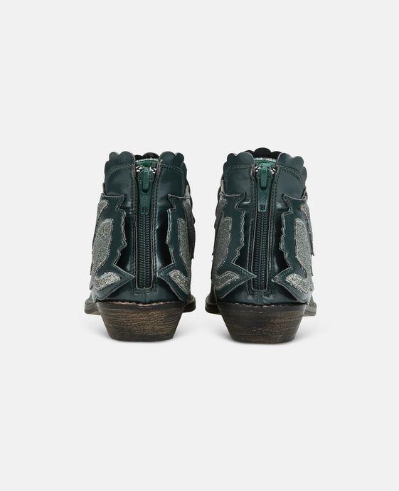 STELLA McCARTNEY KIDS Bottines Lily bleues avec cygnes Chaussures & Accessoires D g