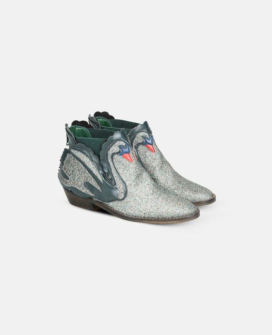 STELLA McCARTNEY KIDS Bottines Lily bleues avec cygnes Chaussures & Accessoires D i