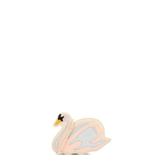 小号粉色天鹅造型包袋