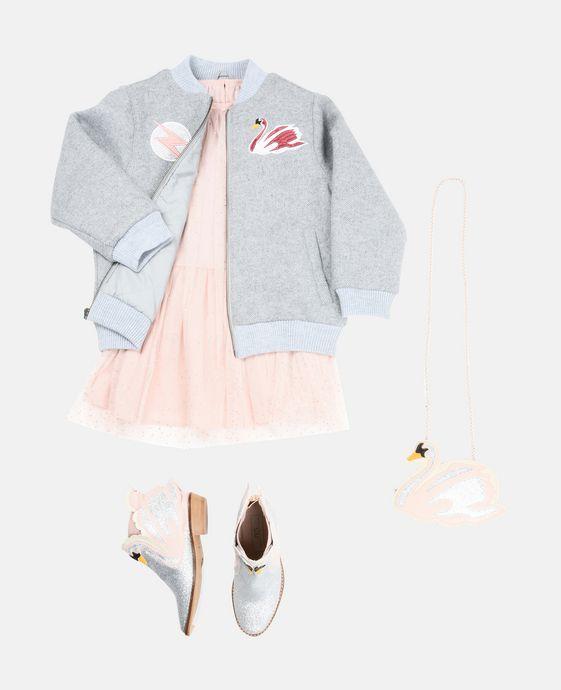 STELLA McCARTNEY KIDS Petit sac cygne rose Chaussures & Accessoires D q