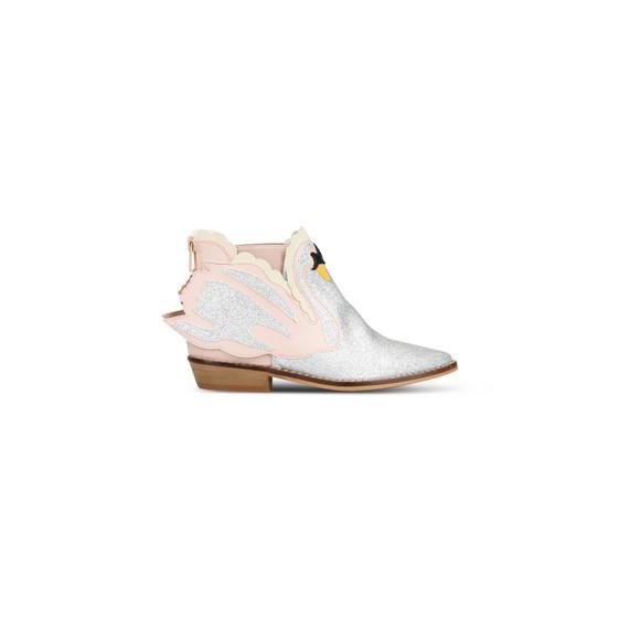 Lily 粉色天鹅靴子