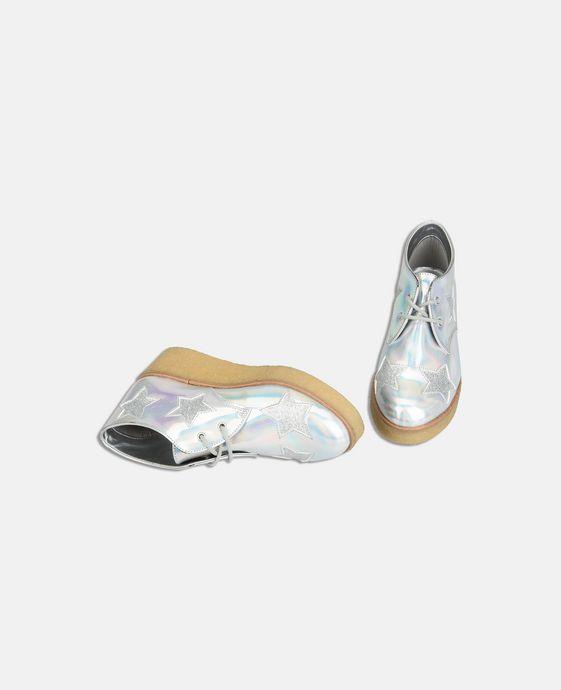 STELLA McCARTNEY KIDS Bottines Wendy argentées et scintillantes à semelle compensée Chaussures & Accessoires D h