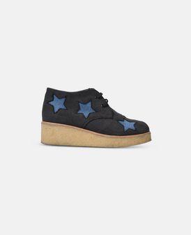 Wendy Denim Blue Wedge Boots