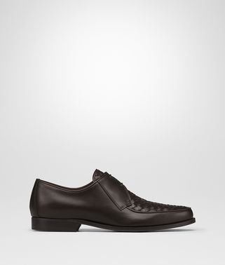 CHET DERBY LACE UP IN ESPRESSO INTRECCIATO CALF