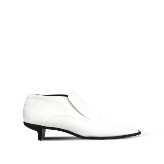 White Alter Nappa Low Ankle Boots