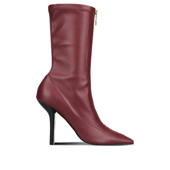 Bordeaux Matt Alter Nappa High Ankle Boots