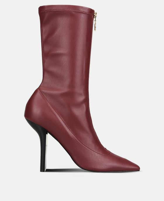 Bordeaux Matte Alter Nappa High Ankle Boots