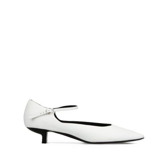 White Mary Jane Alter Nappa Pumps