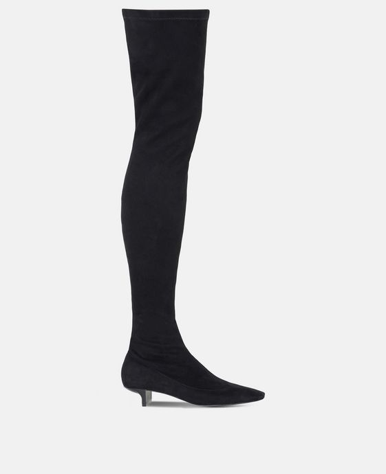 Black Alter Suede Over-the-Knee Boots