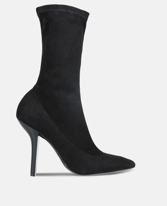 Black Alter Suede High Ankle Boots