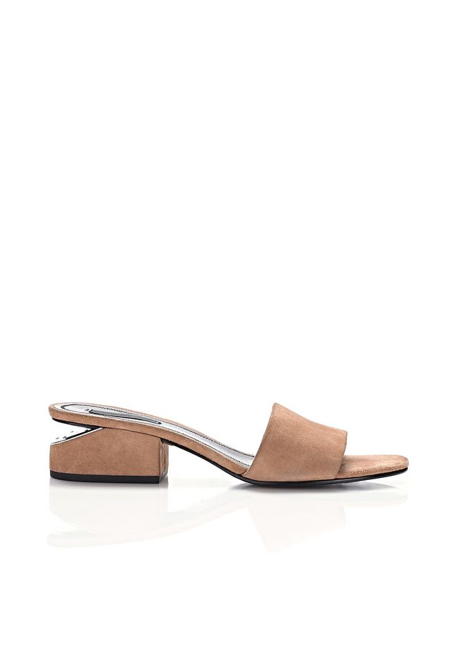 ALEXANDER WANG new-arrivals-shoes-woman LOU SUEDE SANDAL WITH RHODIUM