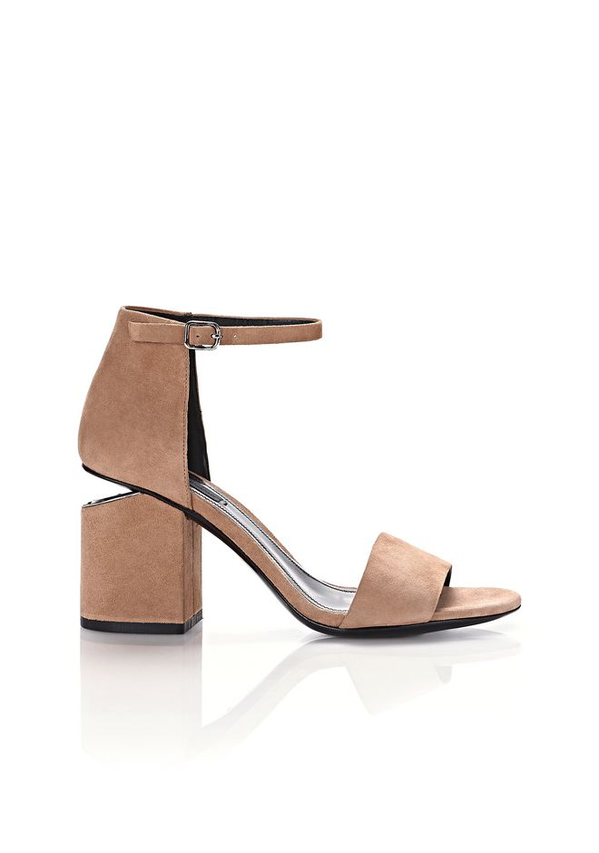 ALEXANDER WANG new-arrivals-shoes-woman ABBY SUEDE SANDAL WITH RHODIUM