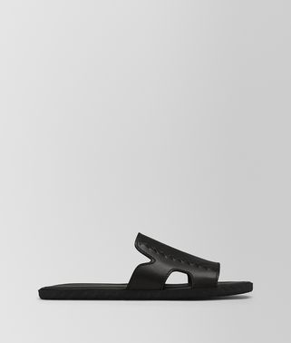 PLAGE SANDAL IN NERO CALF