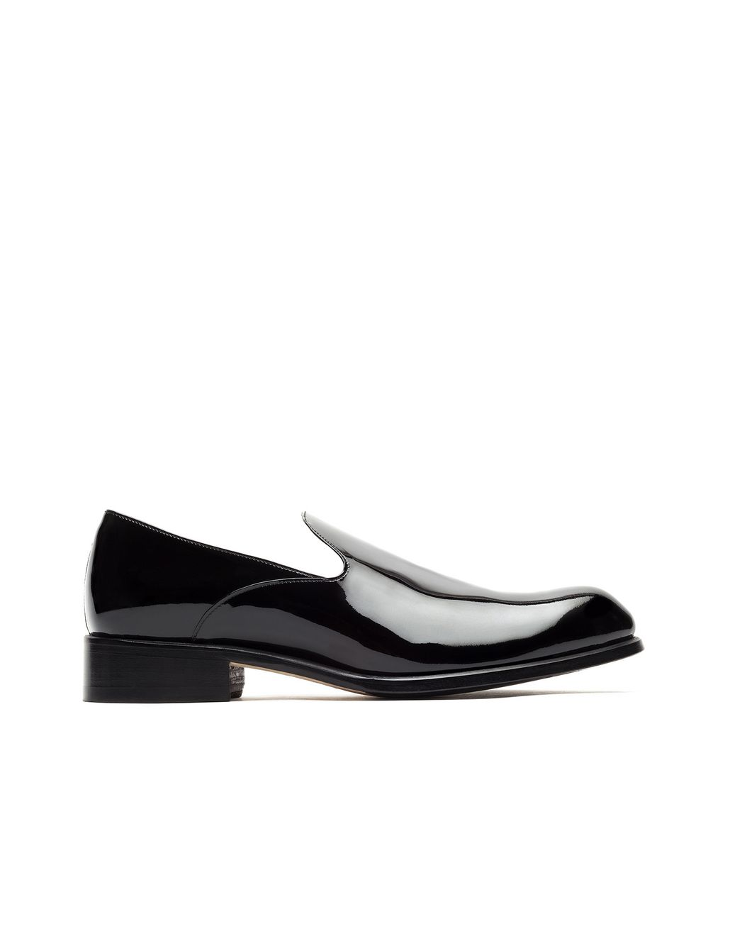 BRIONI Black evening Slipper Loafers Man f