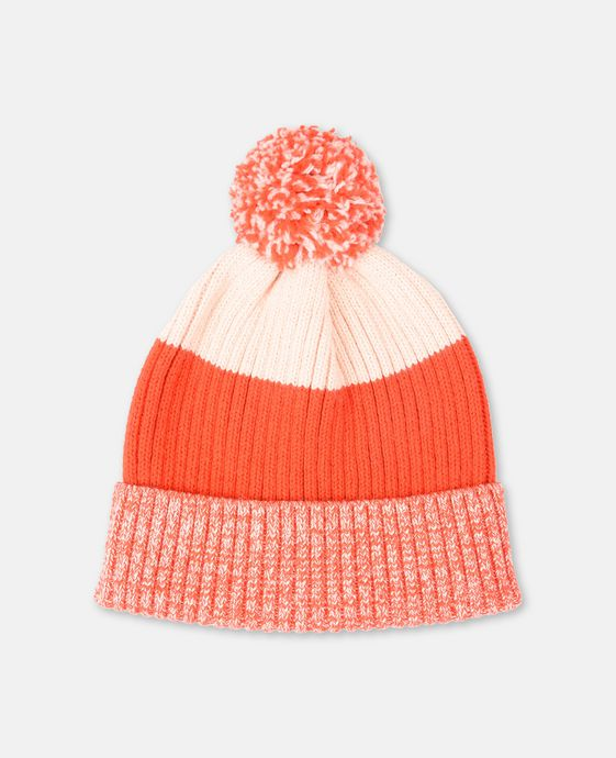 Tweedle Knit Pink Pom-Pom Hat