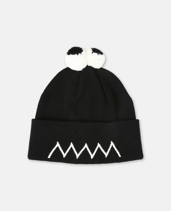 Tweedle Knit Black Hat