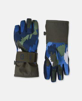 Shredded Blue Ski Gloves