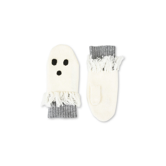 Snappy White Ghost Gloves