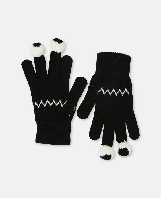 Ace Black Halloween Gloves