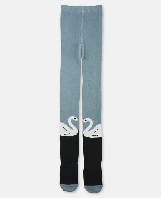 Petra Blue Swan Tights