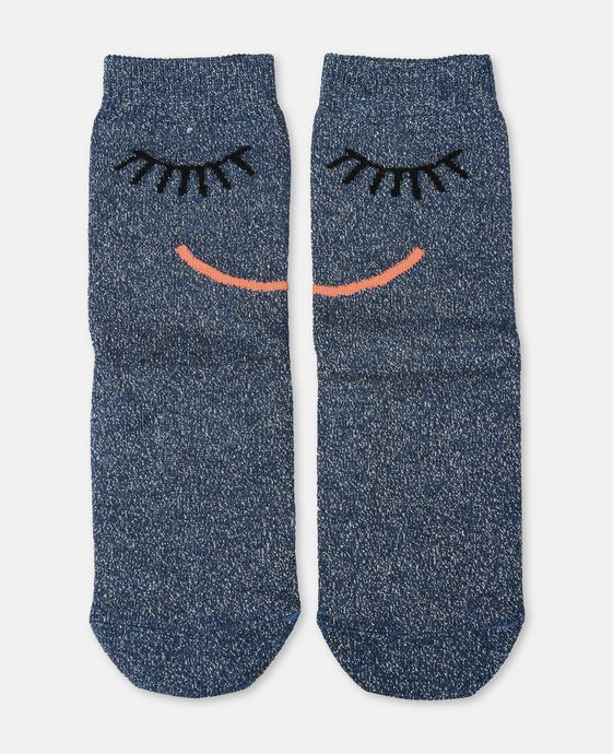Trumpet Blue Face Socks