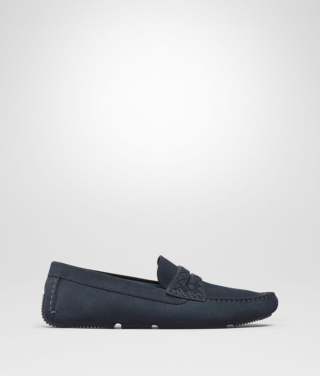 BOTTEGA VENETA WAVE STRIP DRIVER IN DENIM SUEDE Mocassin or Slipper U fp