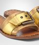 BOTTEGA VENETA RAVELLO SANDAL IN LIGHT GOLD ORO ANTIQUE NAPPA Pump or Sandal Woman ap