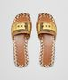 BOTTEGA VENETA RAVELLO SANDAL IN LIGHT GOLD ORO ANTIQUE NAPPA Pump or Sandal D ep