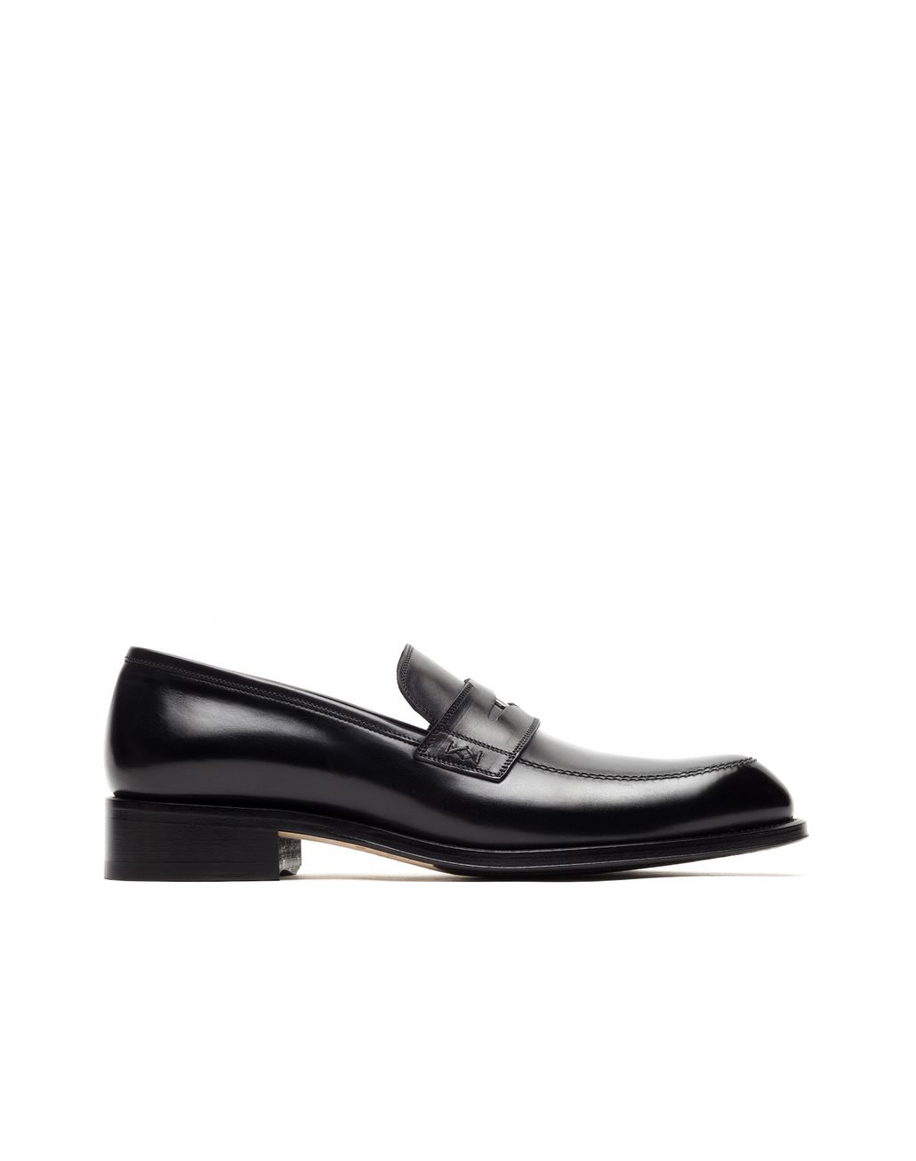 BRIONI Black Penny Loafer Loafers Man f