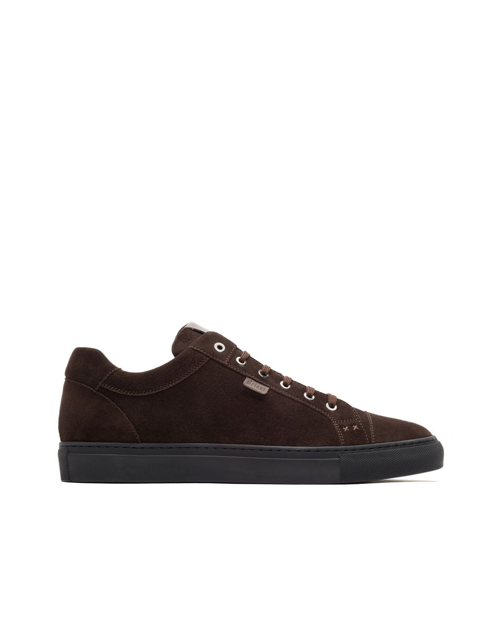 BRIONI Brown Suede Sneakers Sneakers Man f
