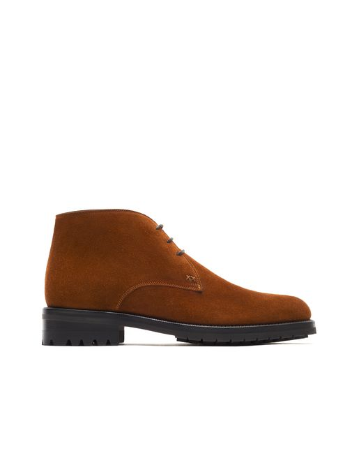 Bottine chukka marron