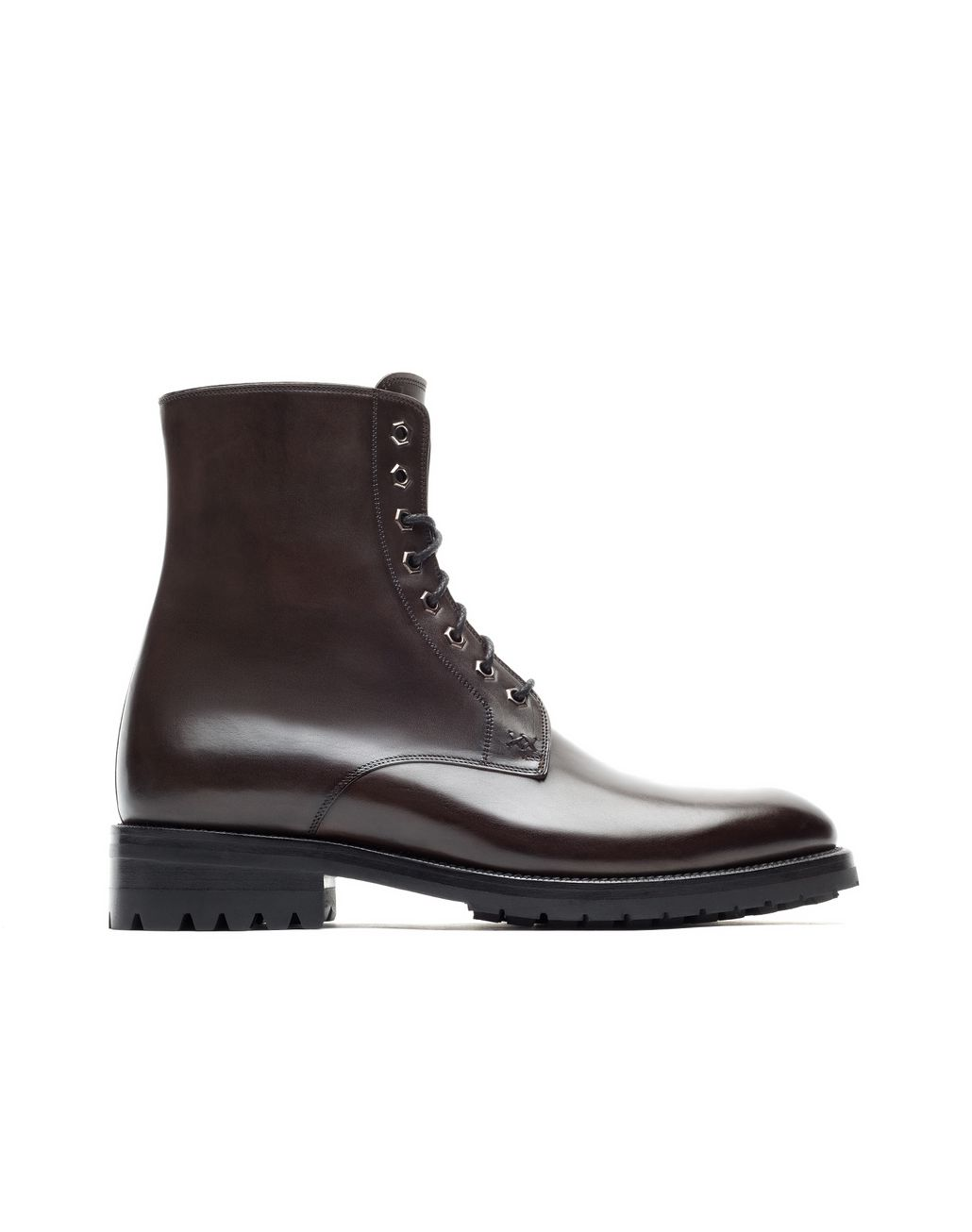 BRIONI Brown Military Boot Booties Man f
