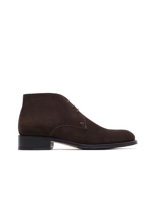 Bottine chukka élégante marron