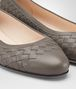 BOTTEGA VENETA PEGGY BALLERINA IN STEEL INTRECCIATO NAPPA Flat Woman ap