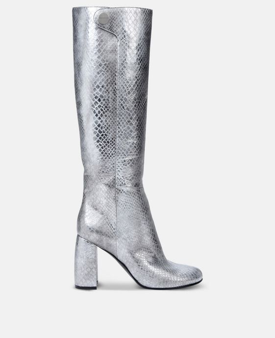 Alter Snake Silver Heeled Boots