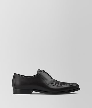 CHET DERBY LACE UP IN NERO INTRECCIATO CALF