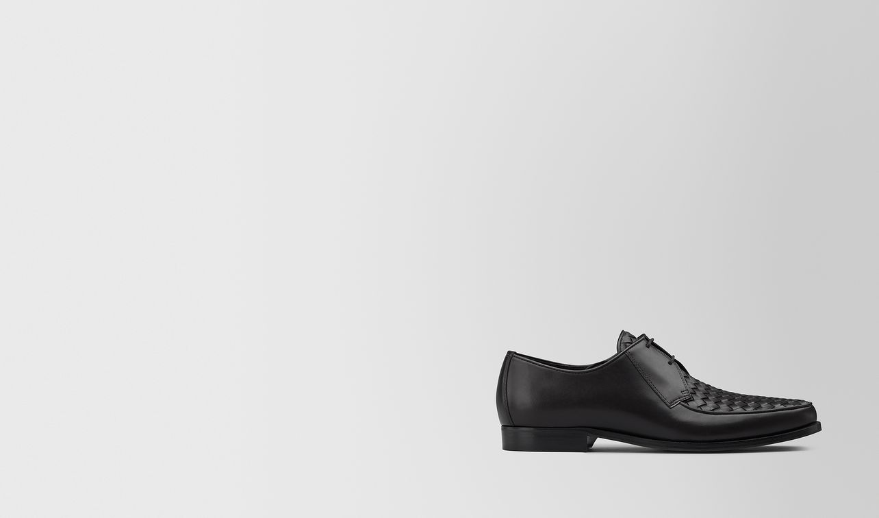 chet derby shoe in intrecciato calf leather  landing