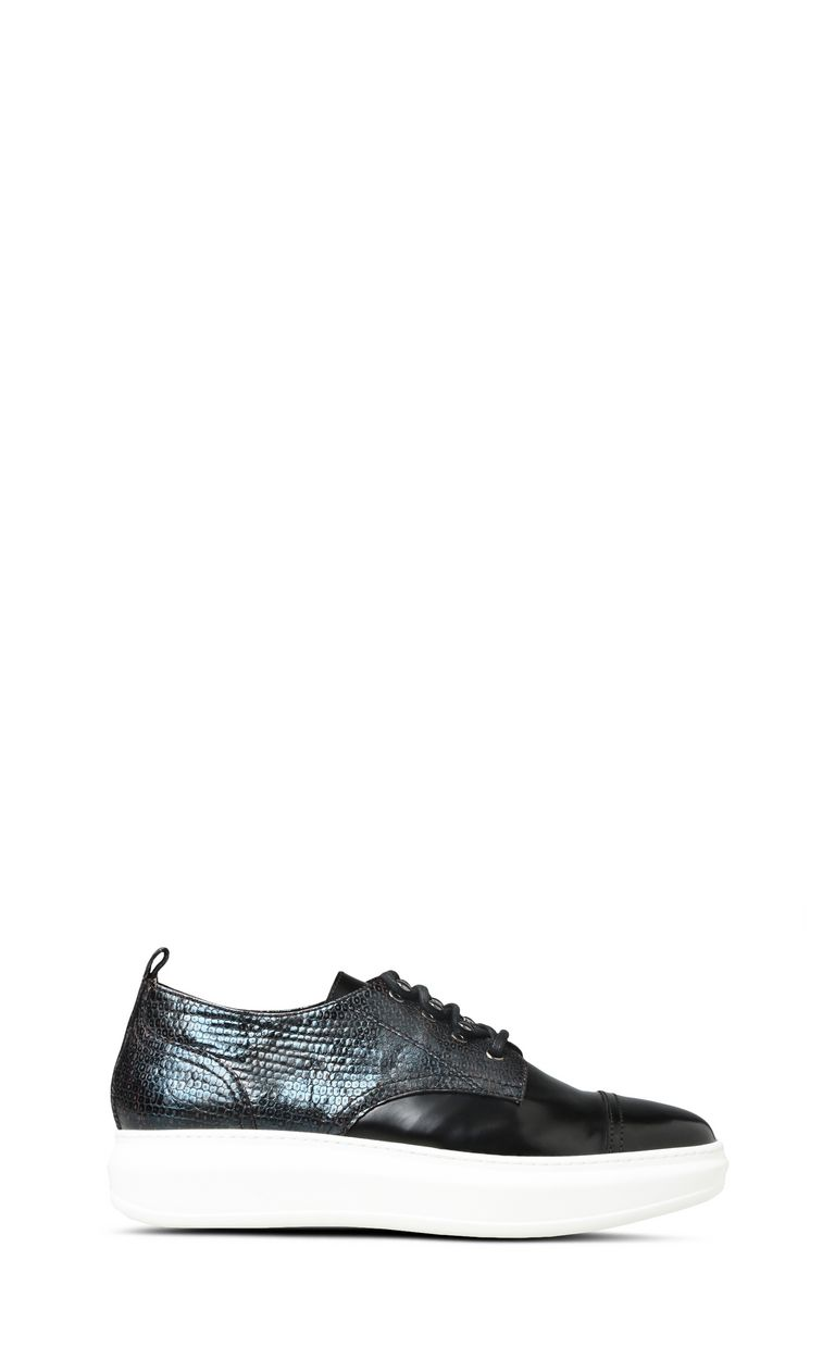 JUST CAVALLI Lace-up python-effect shoes Sneakers U f