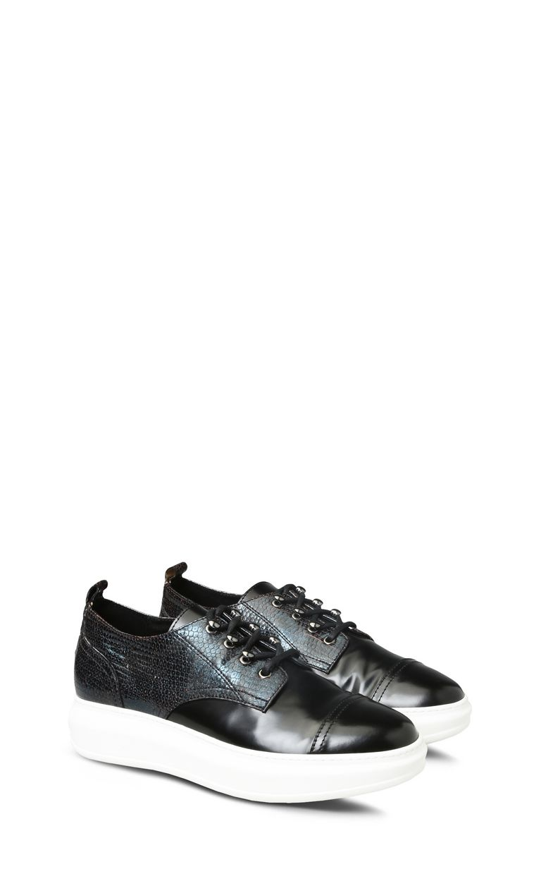 JUST CAVALLI Lace-up python-effect shoes Sneakers U r