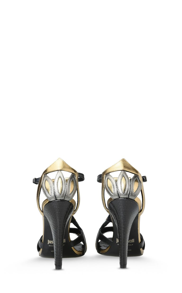 JUST CAVALLI Cone-heel sandals with buckle High-heeled sandals D d